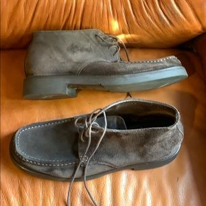 Gommar genuine suede and leather tall shoes